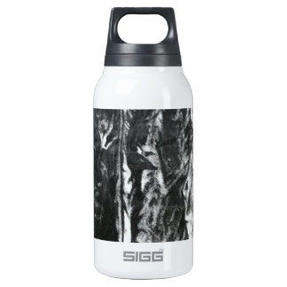 Post modern distressed plastic effect in grey insulated water bottle