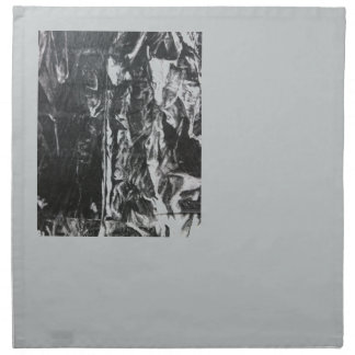 Post modern distressed plastic effect in grey printed napkins