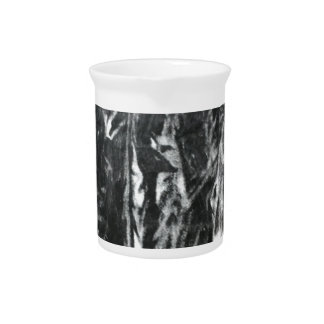 Post modern distressed plastic effect in grey beverage pitcher