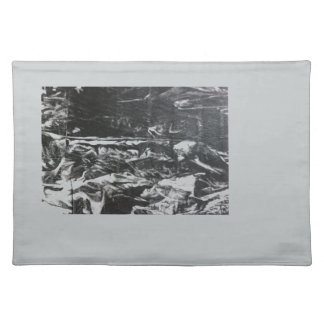 Post modern distressed plastic effect in grey placemat