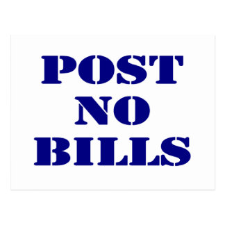 Post No Bills Postcard