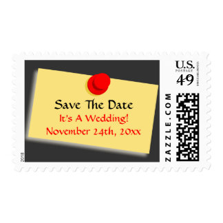 Post Note Bulletin Board Sign Modern Save The Date Postage