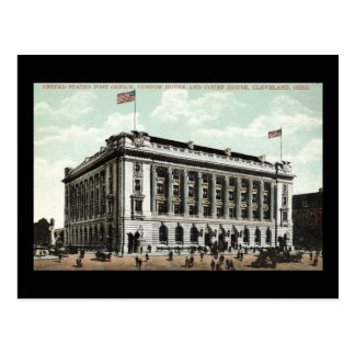Post Office Cleveland Ohio 1910 Vintage Postcard