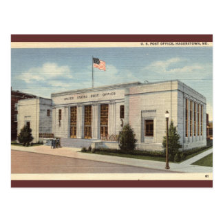 Post Office Hagerstown MD Vintage Postcards