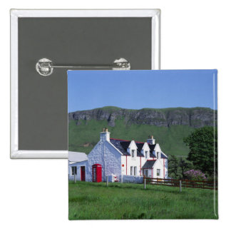 Post Office, Linicro, Isle of Skye, Highlands, 2 Inch Square Button