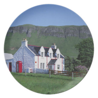 Post Office, Linicro, Isle of Skye, Highlands, Melamine Plate