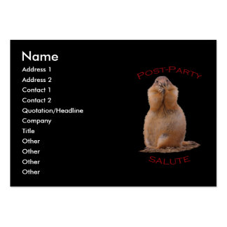 Post-Party Salute Large Business Cards (Pack Of 100)