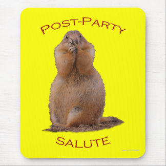 Post-Party Salute Mouse Pad