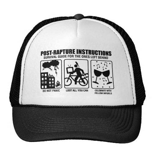 POST-RAPTURE INSTRUCTIONS TRUCKER HAT