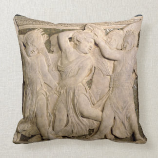 Post-restoration panel No.II from the exterior pul Throw Pillow