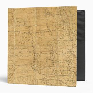 Post route map of the Territory of Dakota 3 Ring Binders