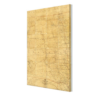 Post route map of the Territory of Dakota Canvas Print