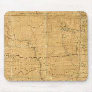 Post route map of the Territory of Dakota Mouse Pad