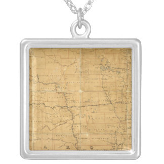 Post route map of the Territory of Dakota Silver Plated Necklace