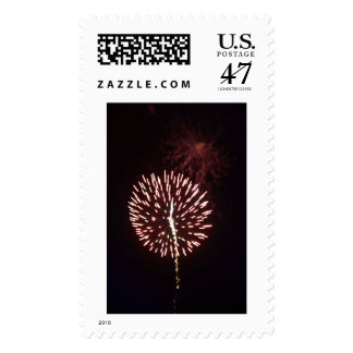 Post-stamp with an image of Firework. Postage Stamp