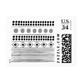 Post Stamp with Aztec drawing