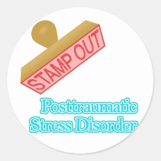 Post Traumatic Stress Disorder Round Sticker