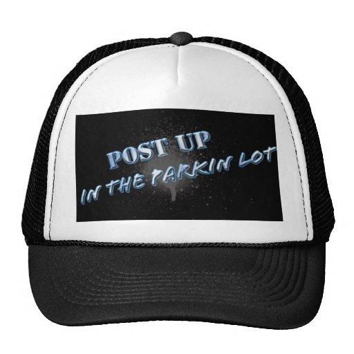 post up trucker hat