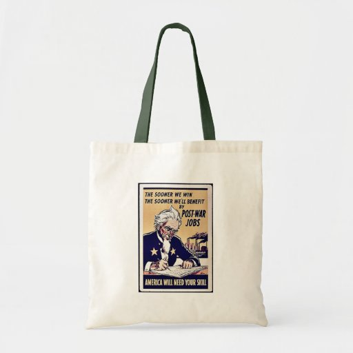 Post War Jobs Budget Tote Bag