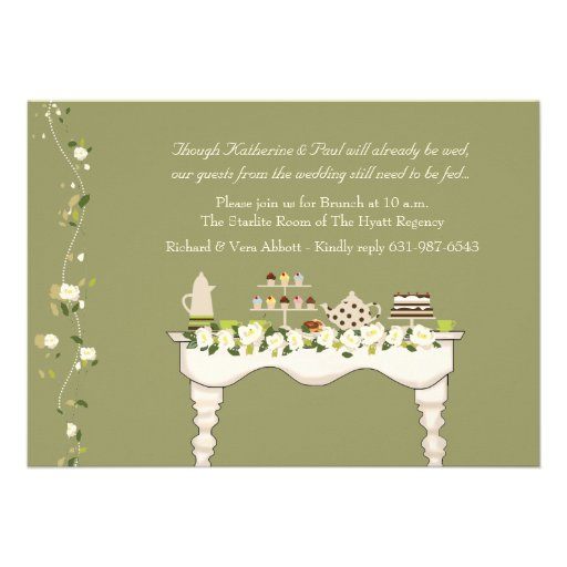 Post Wedding Brunch Invitations is the best ideas you have to choose for invitation example