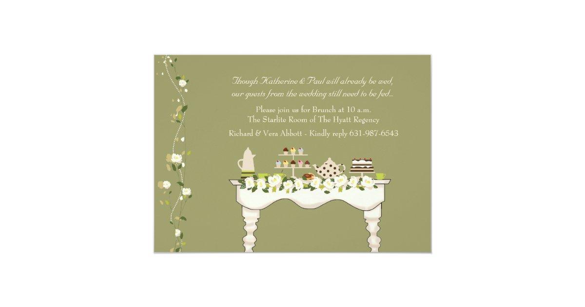 Post Wedding Brunch Invitation Wording: Post Wedding Brunch Invitation (You Pick Color)