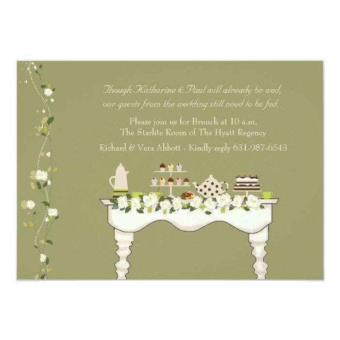 Post Wedding Brunch Invitation You Pick Color