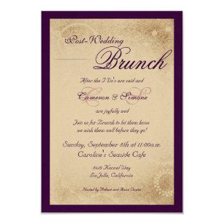 Post-Wedding Brunch -Script, Purple Card
