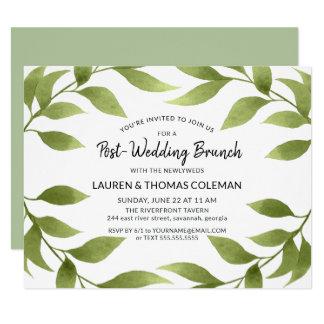 Post Wedding Brunch Watercolor Willow Wreath Invitation