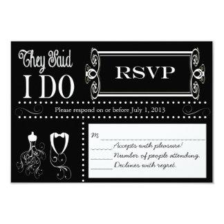 Post Wedding Chalkboard RSVP Card Invites