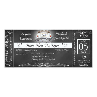Post Wedding Chalkboard Ticket Invitation