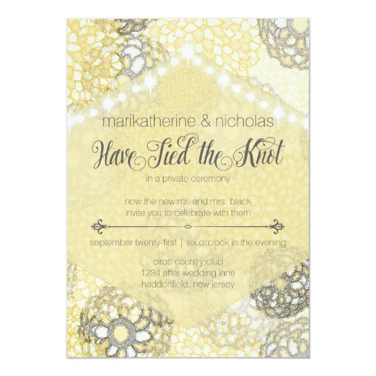 Post Wedding Party Invitation: Post Wedding Flowers & Lights Party Invitations