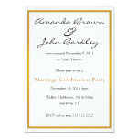 Post Wedding Marriage Celebration Party 5x7 Paper Invitation Card