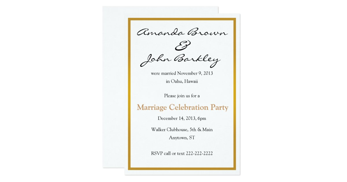 Travel Themed At Home Wedding Reception Invitations