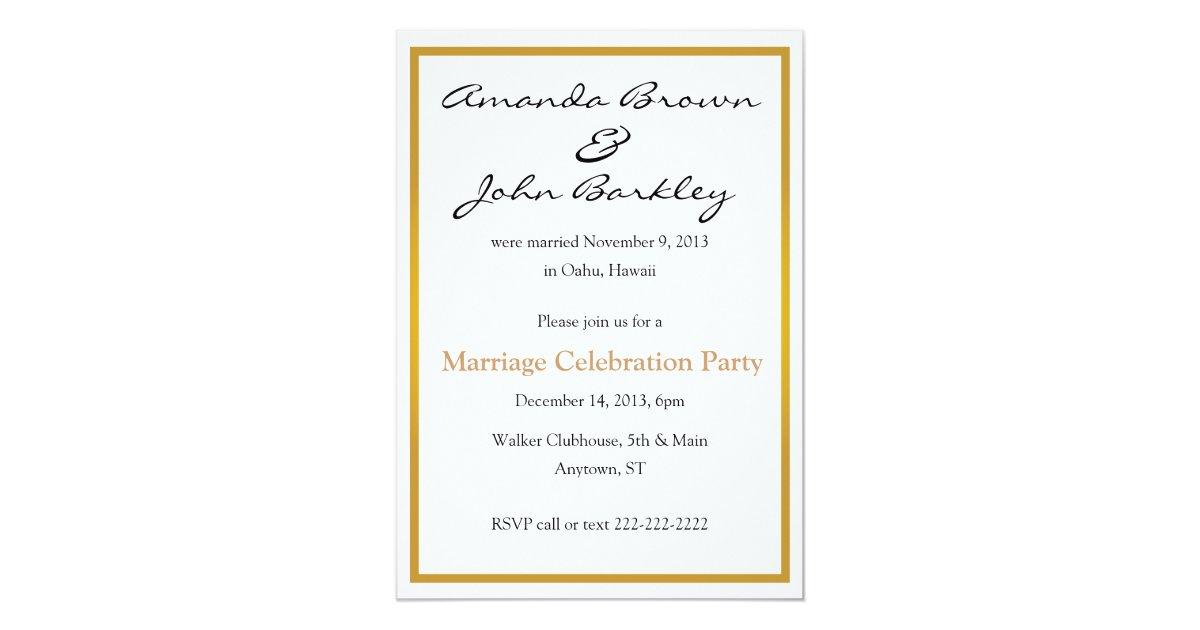 Post Wedding Party Invitations & Announcements | Zazzle
