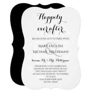 Post Wedding Reception Happily ever after Card