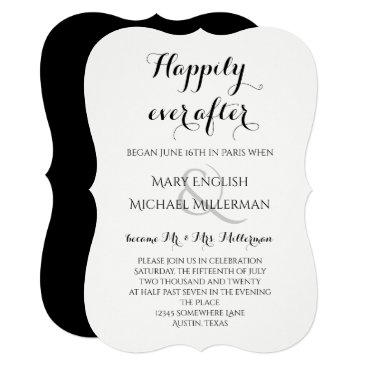 henishouseofpaper Post Wedding Reception Happily ever after Card