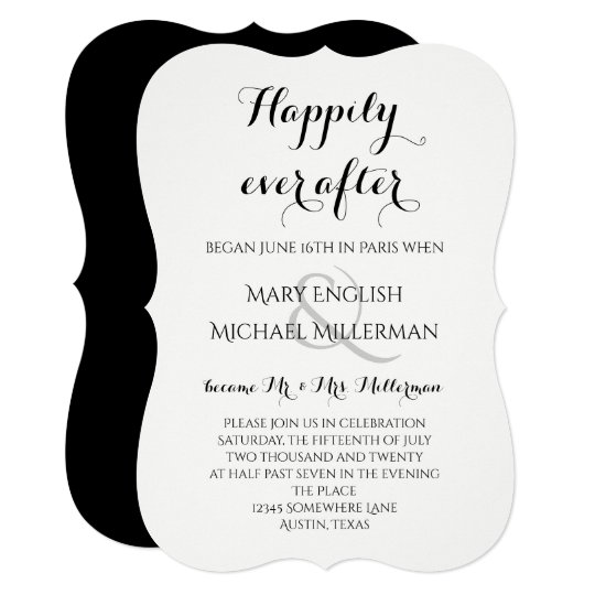 "Invitation For Reception After The Wedding: ""We Got Married!"" Casual Script Wedding Reception"