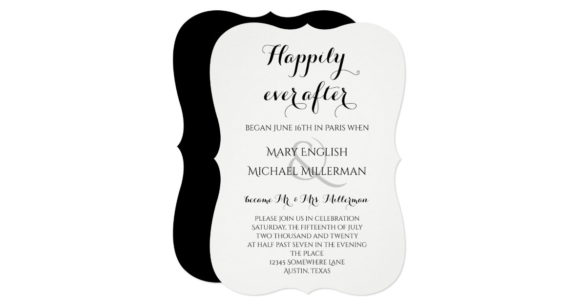 Happily Ever After Wedding Invitations: Post Wedding Reception Happily Ever After Invitation