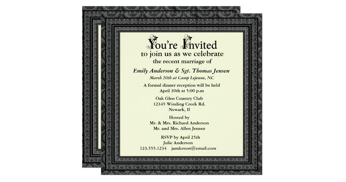 Post Wedding Invitations Reception: Post-Wedding Reception Invitation