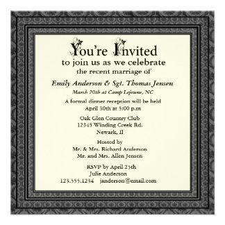 Post-Wedding Reception Invitation