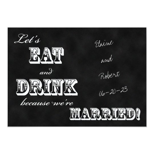 post wedding reception invitation chalkboard zazzle com