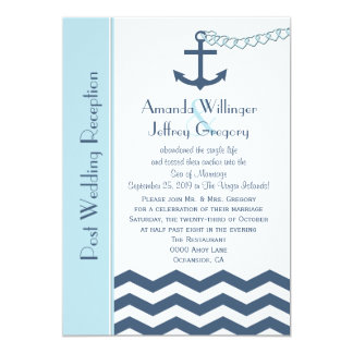 Post Wedding Reception  Invitation - Nautical