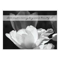 Post Wedding Reception Invitation -- Spring Tulip