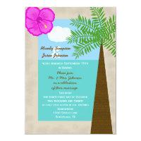 Post Wedding Reception Invitation -- Tropical