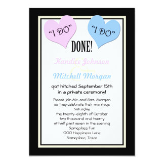 post wedding reception invitations i do - Post Wedding Reception Invitation Wording