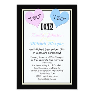 Post reception wedding invitations zazzle post wedding reception invitations i do stopboris