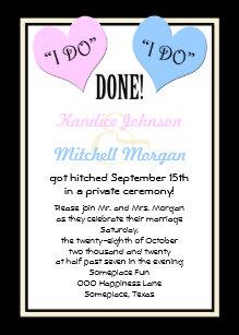 Post Wedding Reception Invitations I Do
