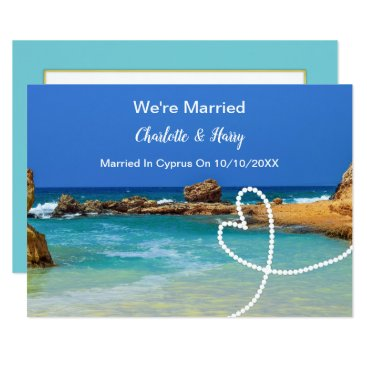 Beach Themed Post Wedding Reception Party Married In Cyprus Card