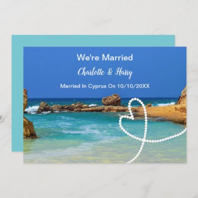Post Wedding Reception Party Married In Cyprus Invitation