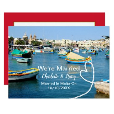 Beach Themed Post Wedding Reception Party Married In Malta Card
